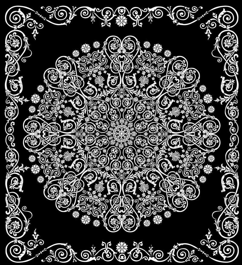 Rond wit patroon in frame royalty-vrije illustratie