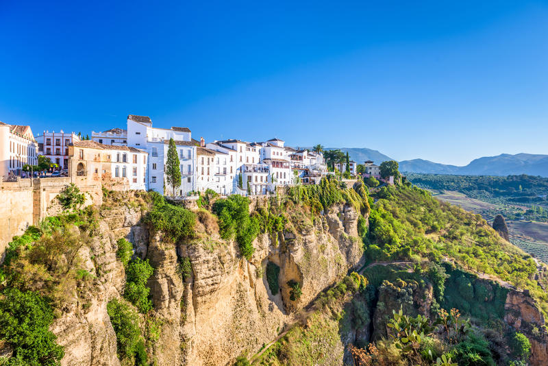 Ronda, παλαιά πόλη της Ισπανίας στοκ εικόνες