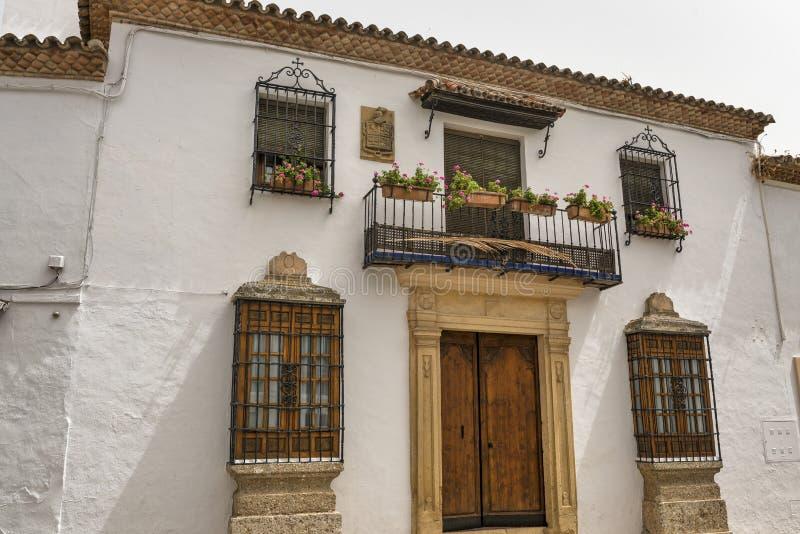 Ronda Andalucia: huis royalty-vrije stock afbeeldingen