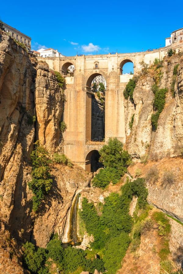 Free Ronda Andalucia Malaga Spain Old Bridge Arch Spanish Architecture Landmark Royalty Free Stock Images - 160995659
