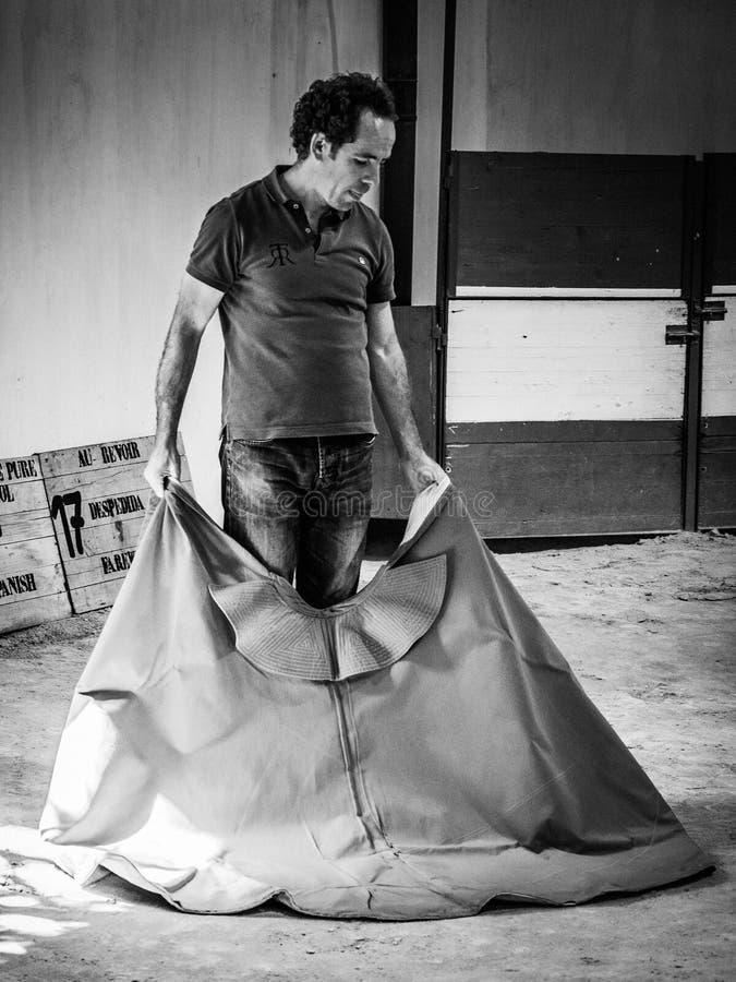 RONDA, ANDALUCIA/SPAIN - 8 ΜΑΐΟΥ: Άσκηση ταυρομάχων στη Ronda στοκ φωτογραφία με δικαίωμα ελεύθερης χρήσης
