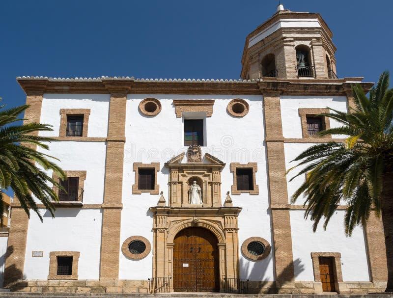 RONDA, ANDALUCIA/SPAIN - 8 ΜΑΐΟΥ: Εκκλησία του Merced στη Ronda Α στοκ εικόνα με δικαίωμα ελεύθερης χρήσης