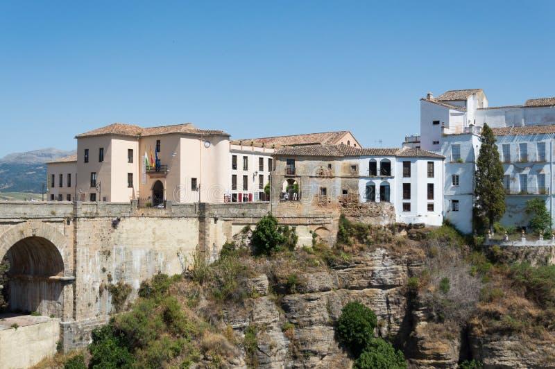 Ronda bridge travel in Andalusia Spain Europe stock photography