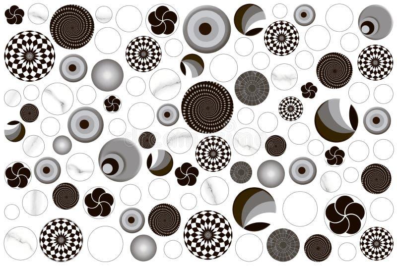 Ronda de la bola de las tejas imagenes de archivo