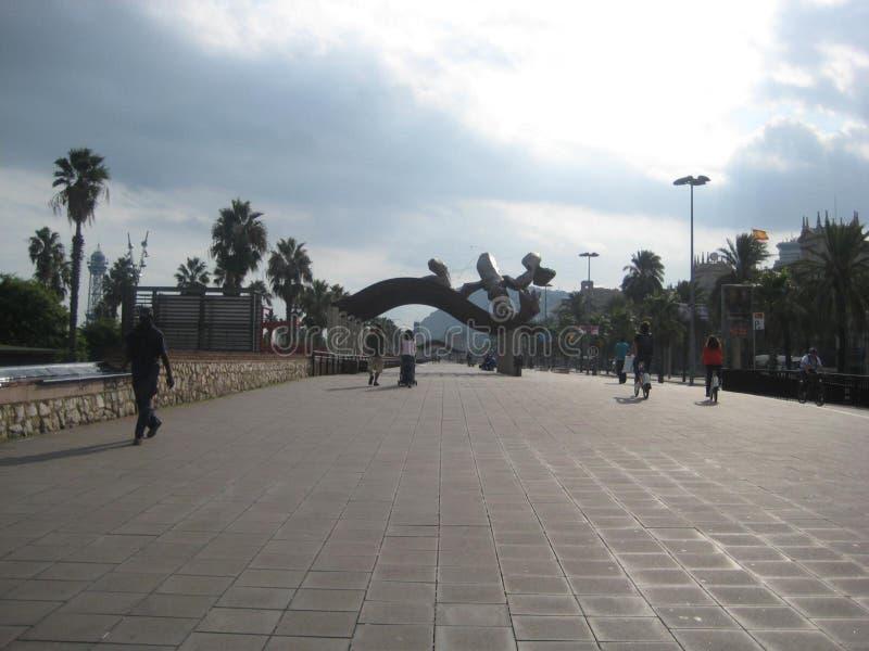 Ronda-del-litoral-'promenade' foto de archivo
