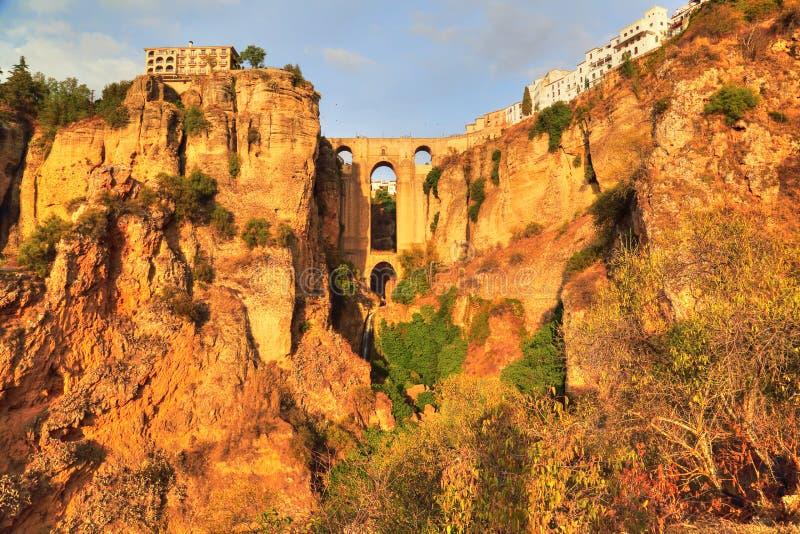 Ronda, Famous Puente Nuevo Bridge`s Arch. Spain, Ronda, Famous Puente Nuevo Bridge`s Arch royalty free stock image
