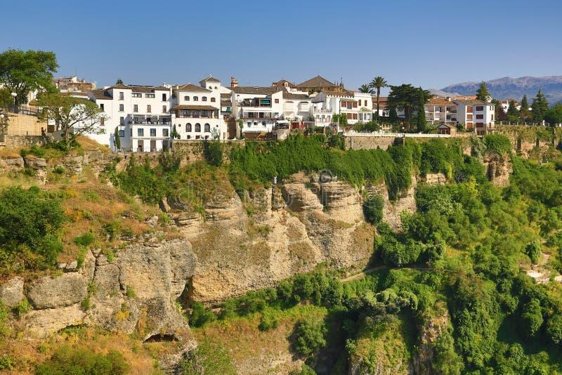 Ronda, jeden sławne białe wioski Malaga, Hiszpania (Andalusia) obrazy stock