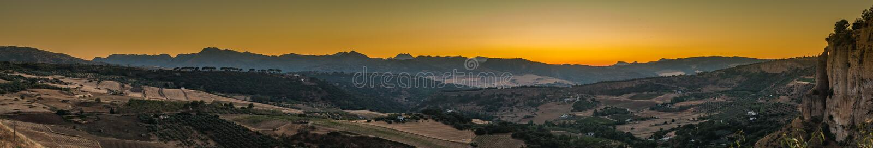Ronda Landscape Panorama I immagine stock libera da diritti