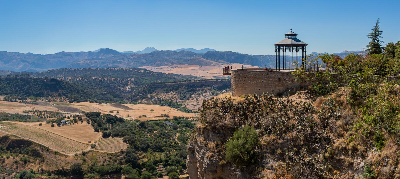Ronda Landscape Panorama II immagine stock