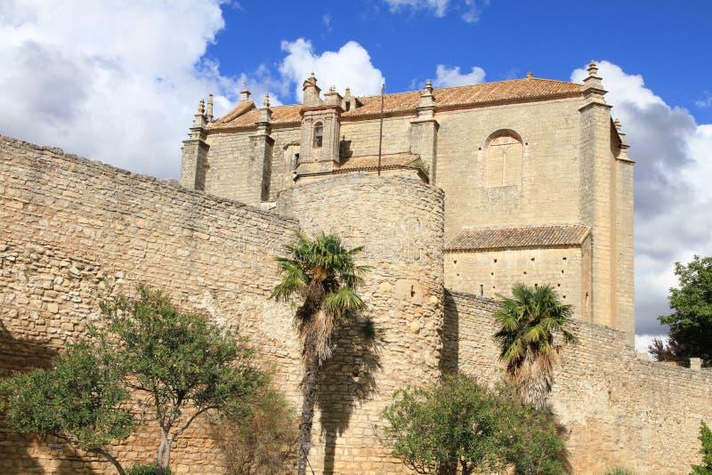 Ronda Malaga landskap Andalusia Spanien arkivfoto