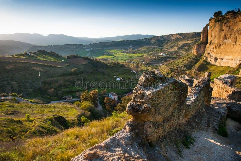 Ronda, Malaga province, Andalusia, Spain - view from Mirado de Ronda at Alameda del TajoRonda stock photography