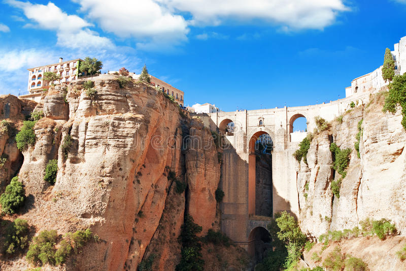 Ronda, Malaga prowincja, Andalusia, kręgosłup fotografia stock