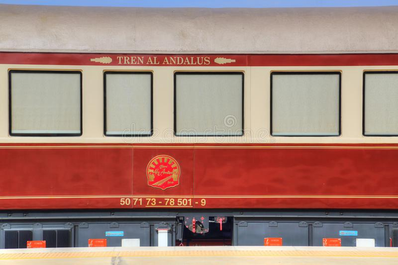 Ronda Old Luxury Train stock foto