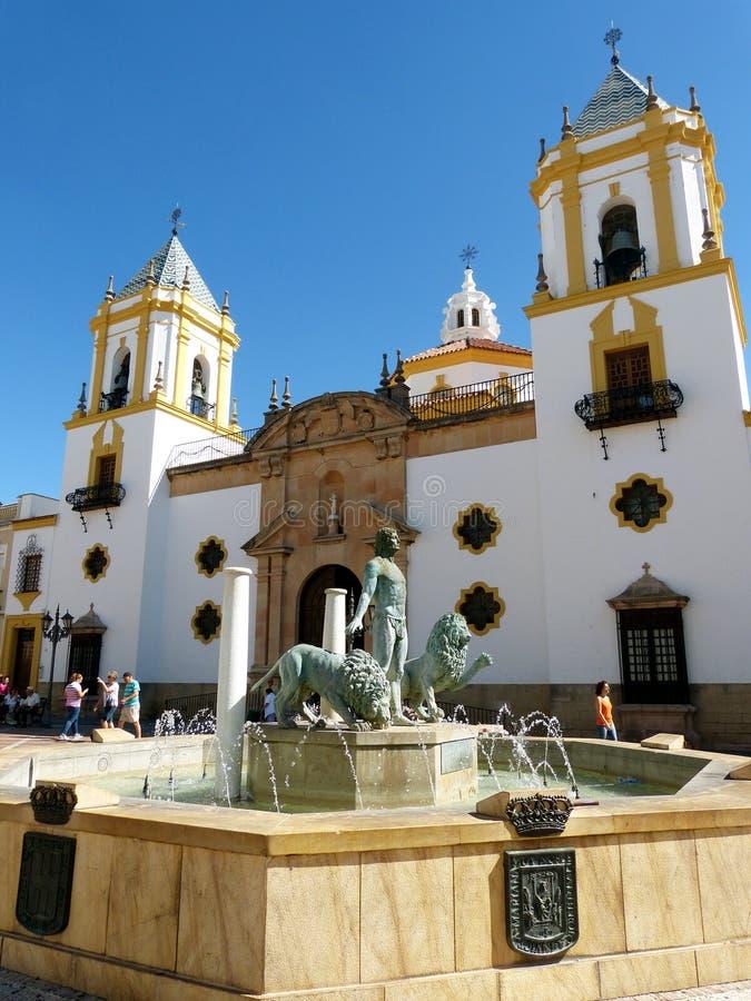 Ronda: Plac Del Socorro zdjęcie royalty free