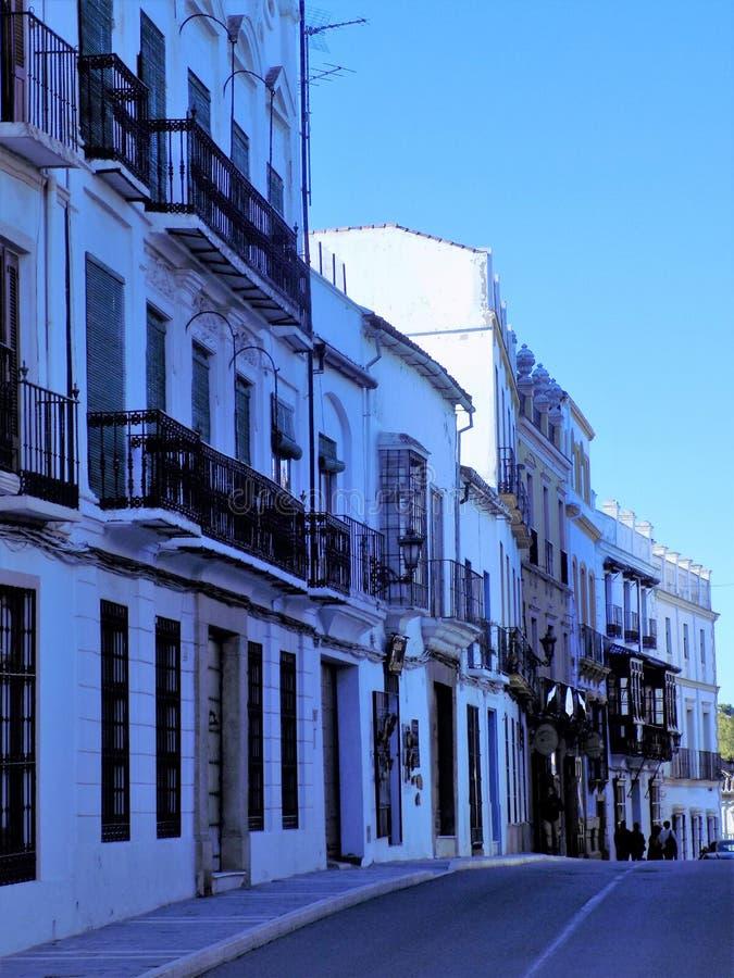 Ronda a rua-Andaluzia típica fotografia de stock