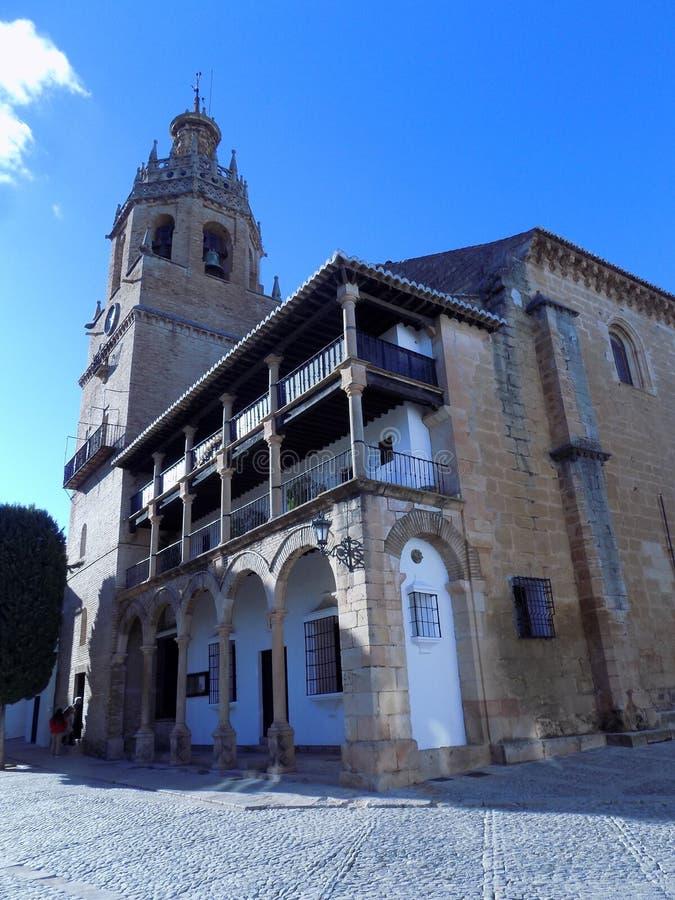 Ronda - Santa Maria la Mayor-Church fotos de stock royalty free
