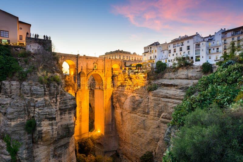 Ronda Spain Bridge royalty-vrije stock foto