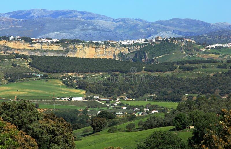 Ronda, Spain and Tajo Gorge. stock photography