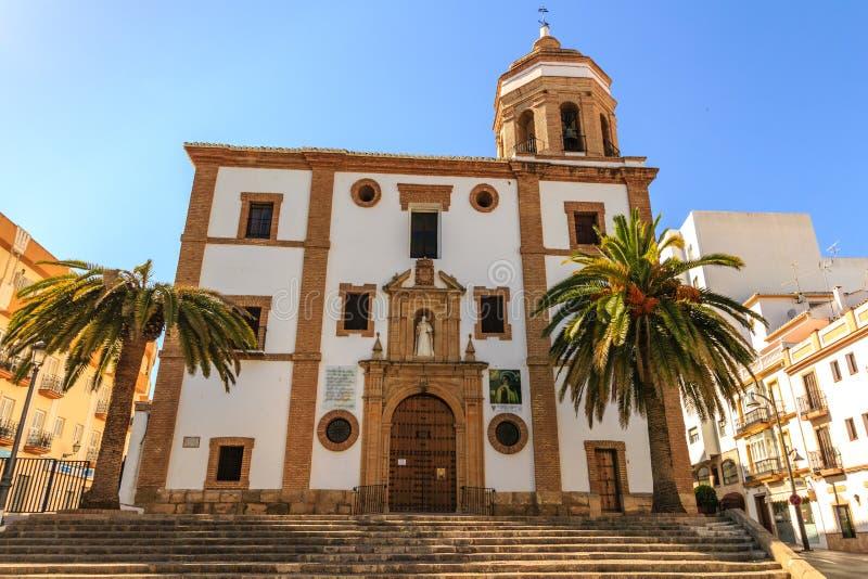 Ronda, Spanje bij het Carmelite Klooster van Merced stock fotografie