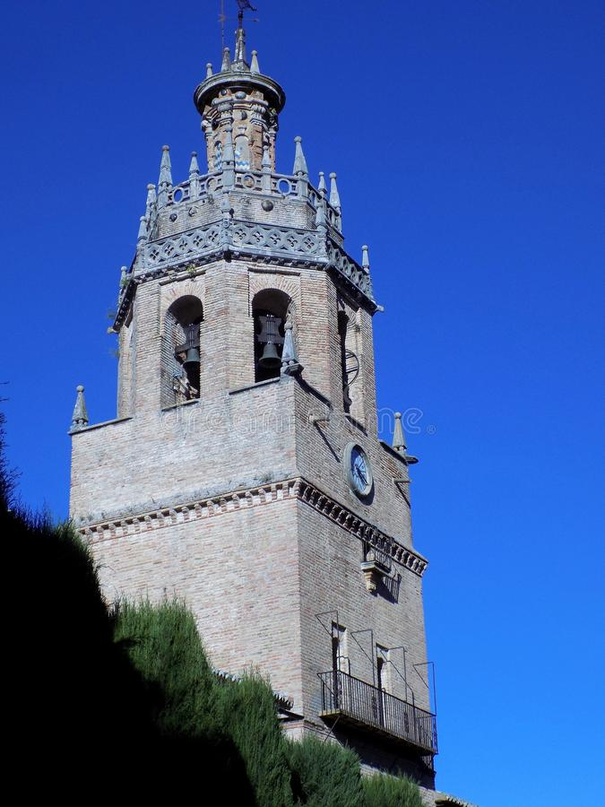 Ronda - torre de Santa Maria la Mayor fotografia de stock royalty free