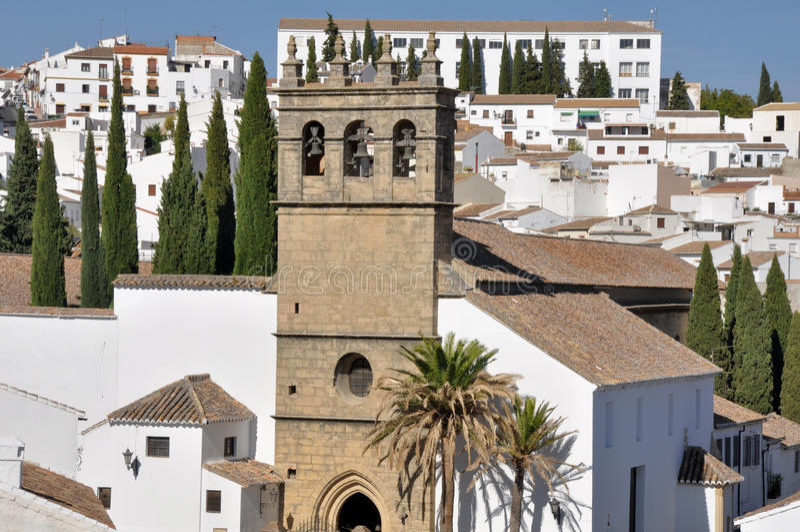 Ronda, town in Malaga (Spain). Ronda, white town in Malaga (Spain royalty free stock images