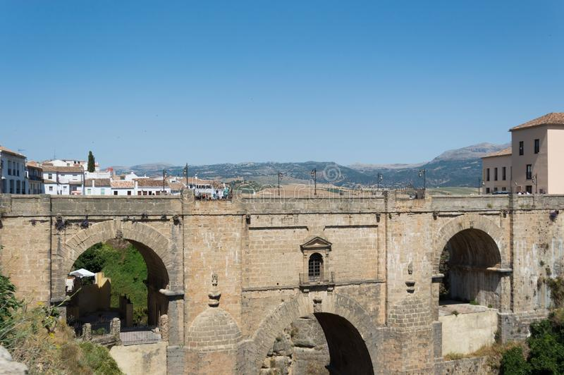 Ronda ancient bridge travel in Andalusia Spain Europe royalty free stock photography