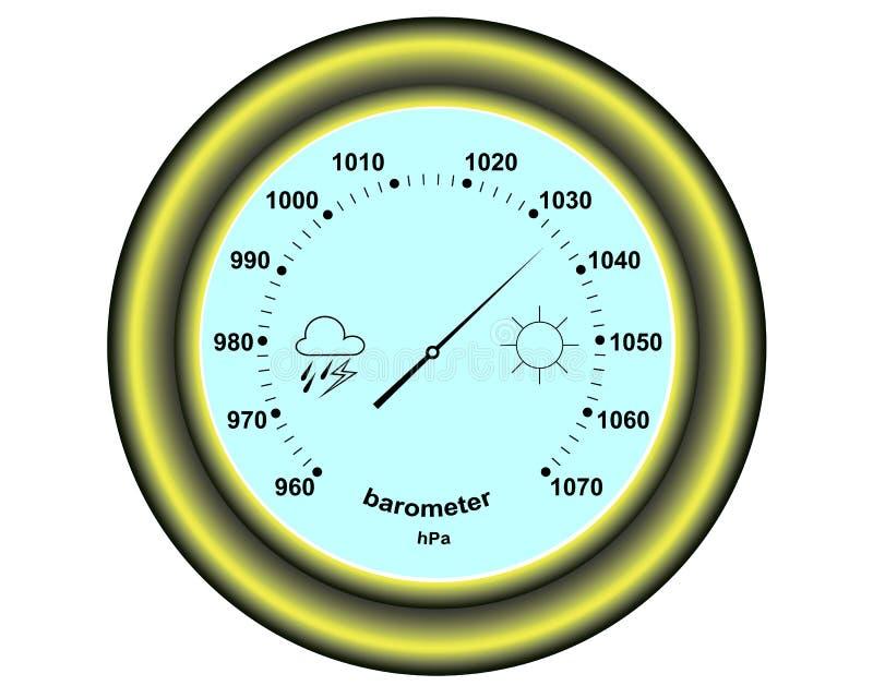 Ronde barometer vector illustratie