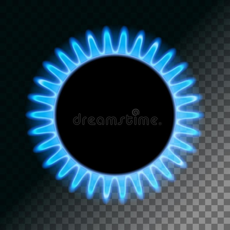 Ronde blauwe vlam vector illustratie