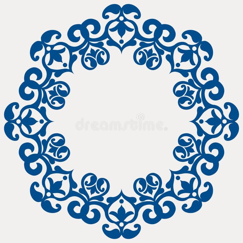 Ronde bloemenslinger royalty-vrije illustratie