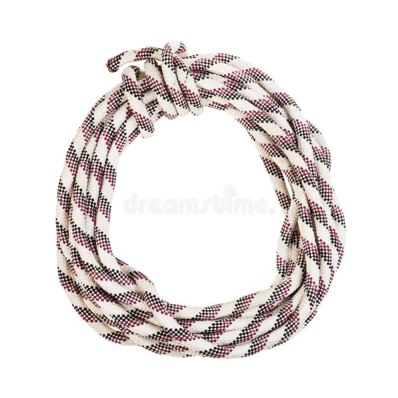 ronde bocht van gestreepte synthetische geïsoleerde kabel royalty-vrije stock afbeelding