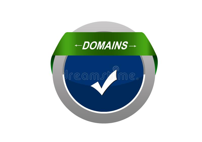Ronde Cirkel tabe met de knoop van het het tekenweb van de domeinenpijl royalty-vrije illustratie
