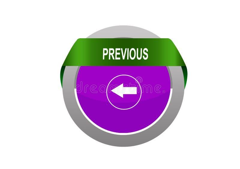 Ronde Cirkel tabe met vorige het Webknoop van het pijlteken stock illustratie