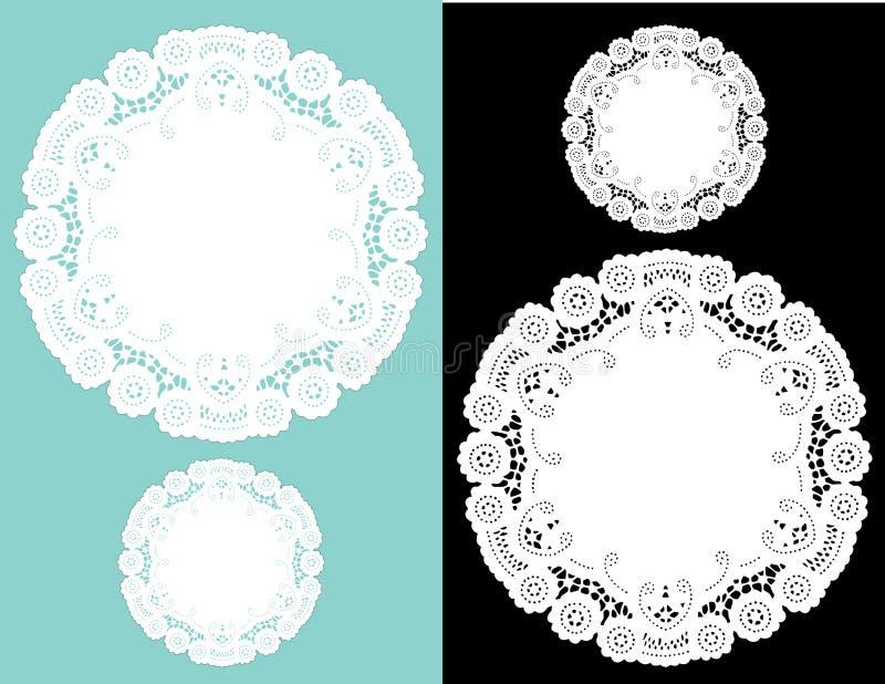 Ronde Doilies van het Kant (jpg+eps)