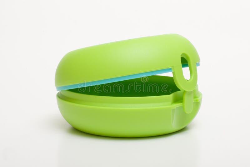 Ronde groene doos stock afbeelding
