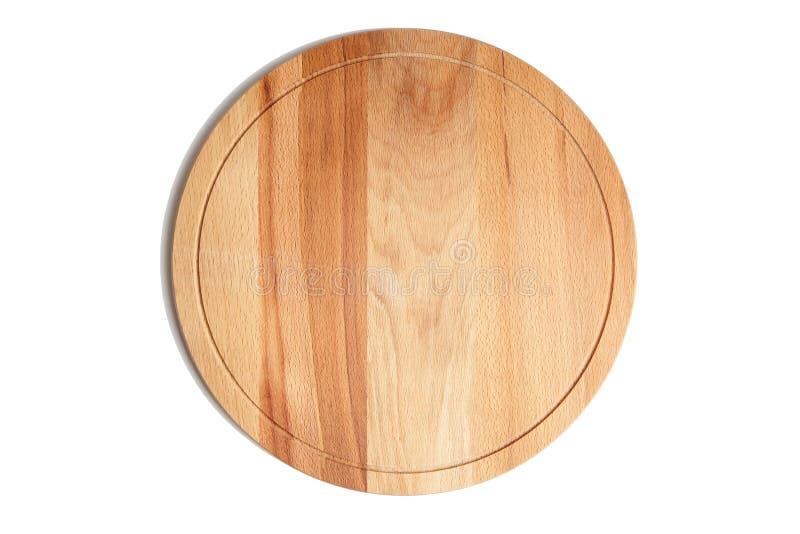 Ronde houten geïsoleerde beuk scherpe raad, stock fotografie