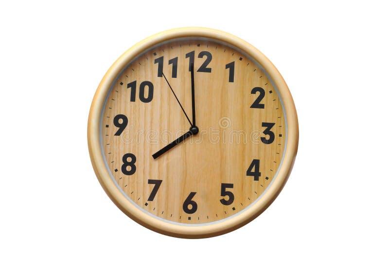 Ronde houten klok royalty-vrije stock fotografie