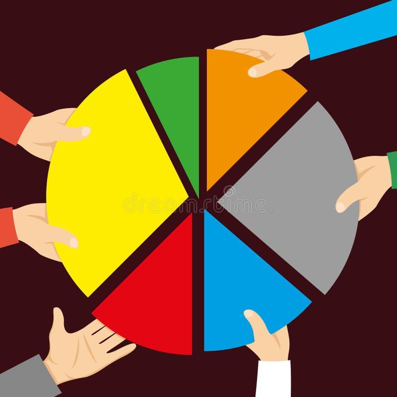 Ronde kleureninfographics vector illustratie
