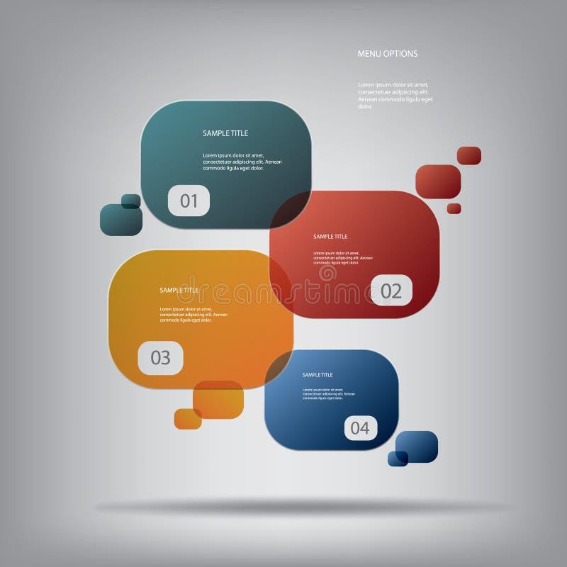Ronde kleurrijke infographic elementen met divers vector illustratie