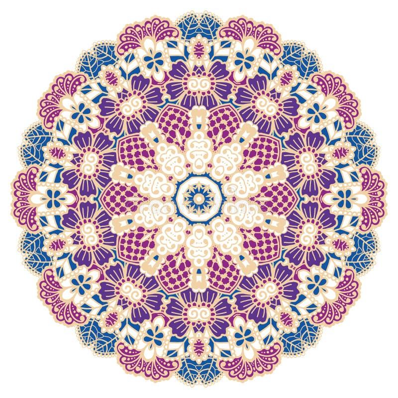 Ronde kleurrijke mandala vector illustratie