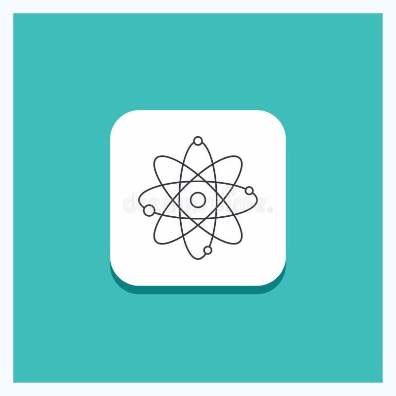 Ronde Knoop voor atoom, kern, molecule, chemie, het pictogram Turkooise Achtergrond van de wetenschapslijn stock illustratie