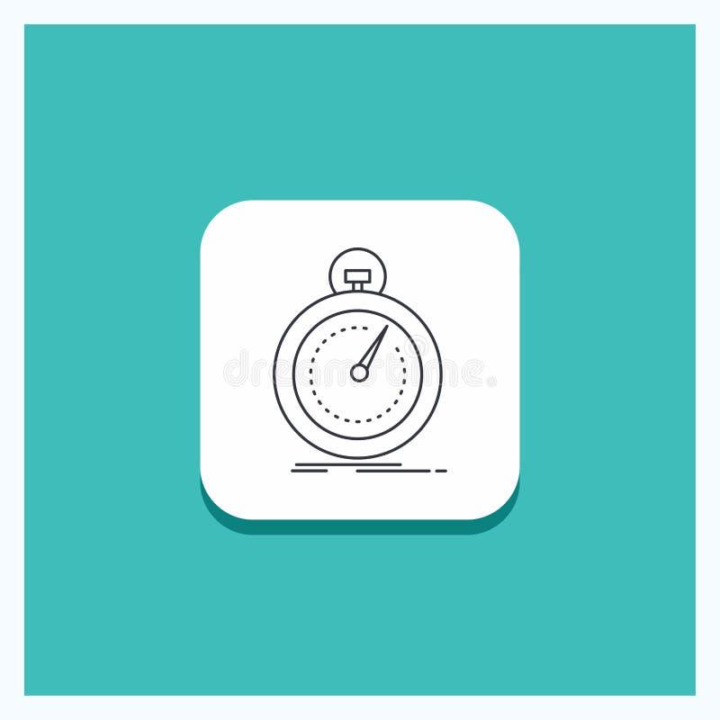 Ronde Knoop voor Gedaane, snelle, optimalisering, snelheid, het pictogram Turkooise Achtergrond van de sportlijn royalty-vrije illustratie