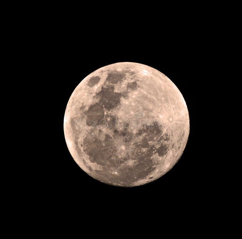 Ronde maan royalty-vrije stock afbeeldingen