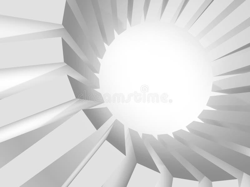 Ronde massief van dozen met sterke verlichting vector illustratie