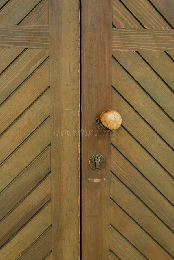 ronde oude deurknop stock fotografie