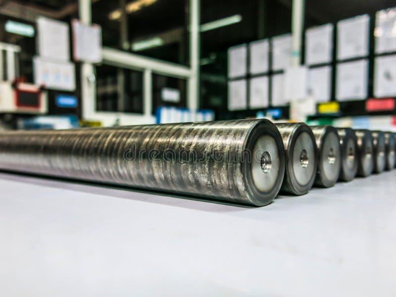 Ronde staalstaven royalty-vrije stock afbeelding