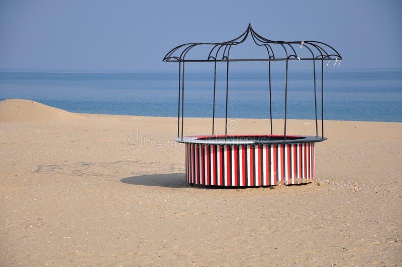 Ronde strandstaaf stock afbeeldingen