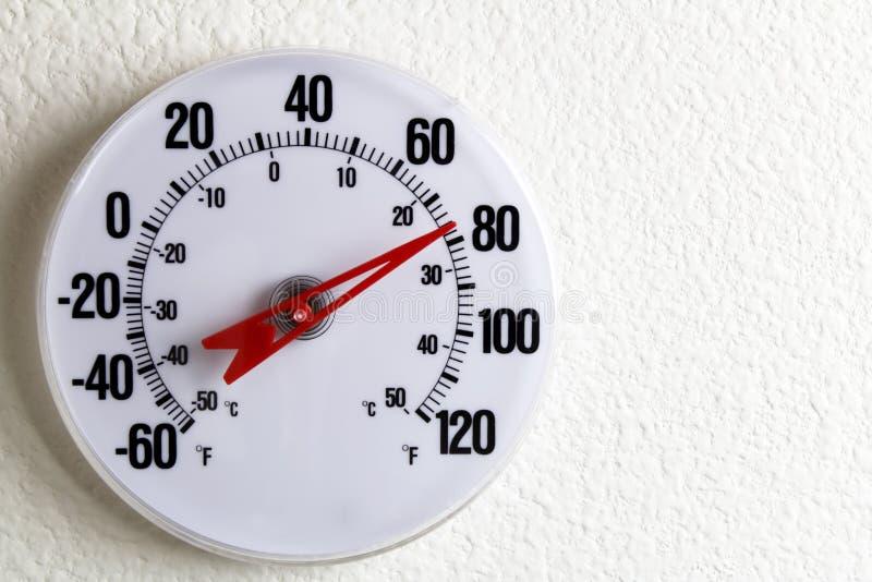 Ronde Thermometer op een Muur royalty-vrije stock foto's