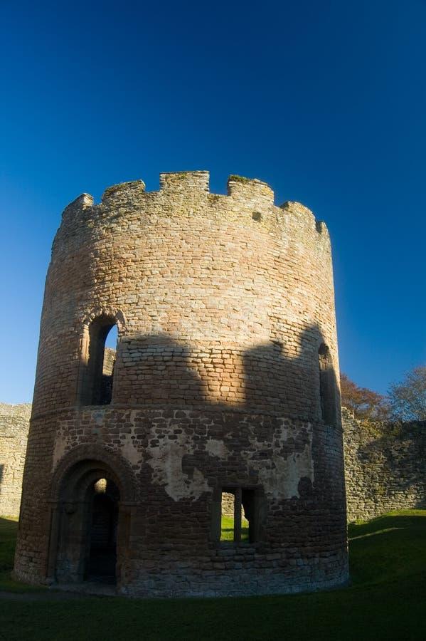 Ronde toren van het kasteel stock foto