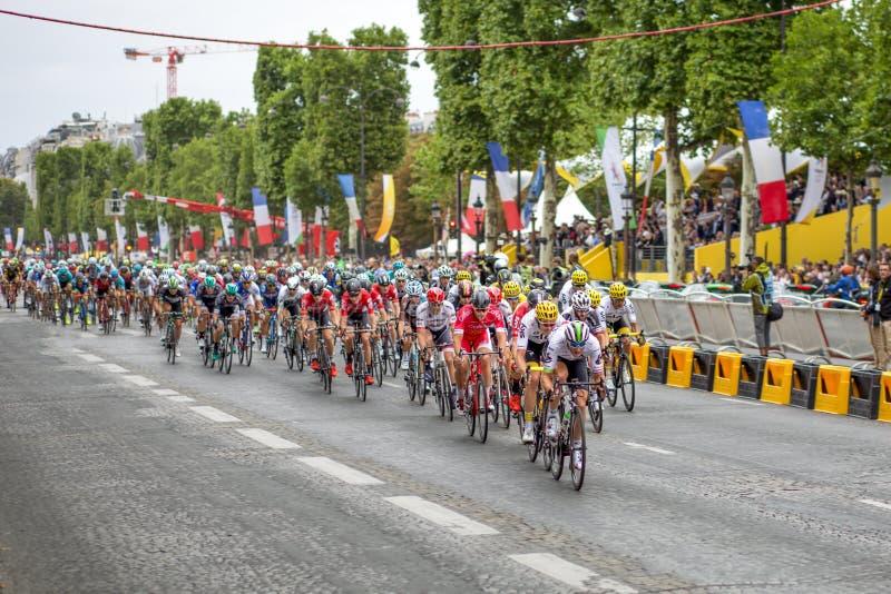 Ronde van Frankrijk 2017 champs-Elysees royalty-vrije stock foto's