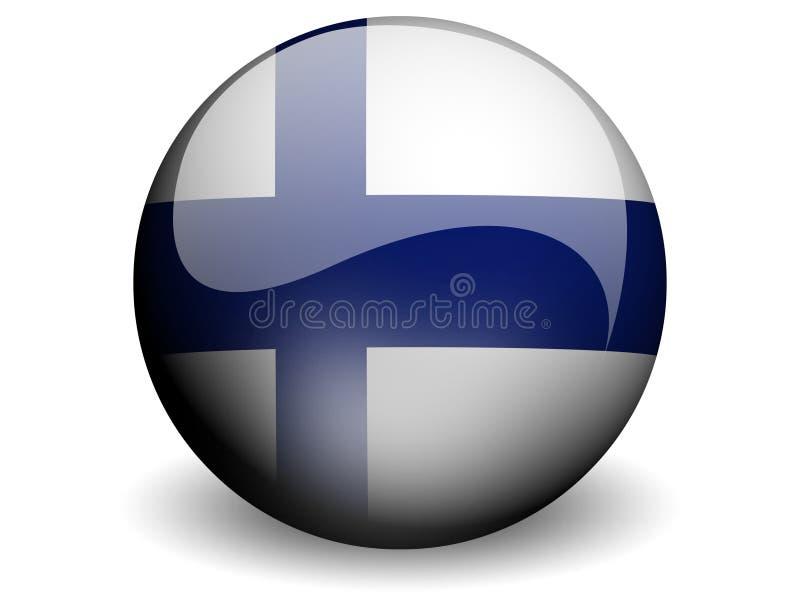 Ronde Vlag van Finland stock illustratie